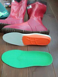 日本野鳥の会の長靴インソール裏表